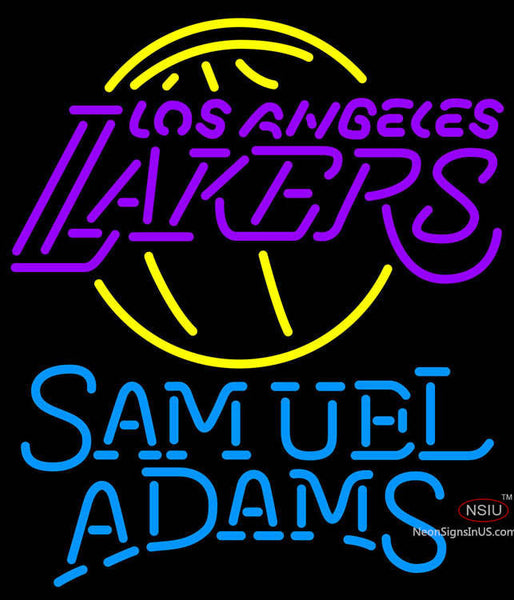 Samuel Adams Single Line Los Angeles Lakers NBA Neon Sign