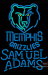 Samuel Adams Single Line Memphis Grizzlies NBA Neon Sign