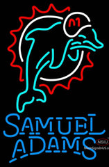 Samuel Adams Single Line Miami Dolphins NFL Neon Sign  7