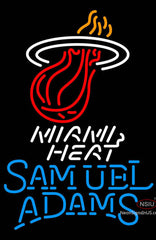 Samuel Adams Single Line Miami Heat NBA Neon Sign