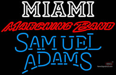 Samuel Adams Single Line Miami UNIVERSITY Band Board Neon Sign