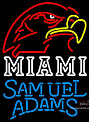 Samuel Adams Single Line Miami UNIVERSITY Fall Session Neon Sign