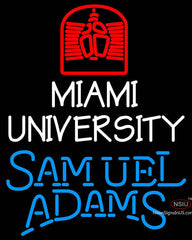 Samuel Adams Single Line Miami UNIVERSITY Neon Sign
