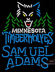 Samuel Adams Single Line Minnesota Timber Wolves NBA Neon Sign