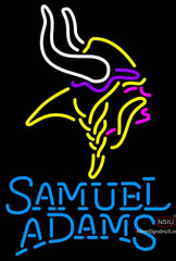 Samuel Adams Single Line Minnesota Vikings NFL Neon Sign