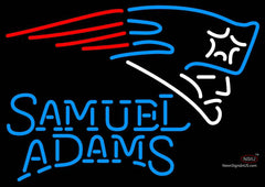 Samuel Adams Single Line New England Patriots NFL Neon Sign  7