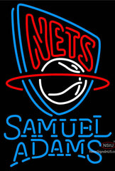 Samuel Adams Single Line New Jersey Nets NBA Neon Sign