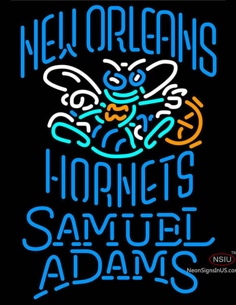 Samuel Adams Single Line New Orleans Hornets NBA Neon Sign