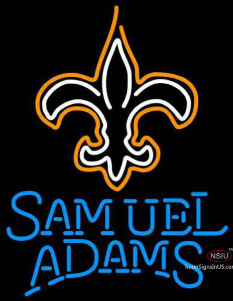 Samuel Adams Single Line New Orleans Saints NFL Neon Sign