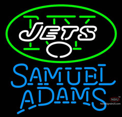 Samuel Adams Single Line New York Jets NFL Neon Sign  7