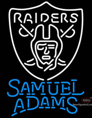 Samuel Adams Single Line Oakland Raiders NFL Neon Sign  7