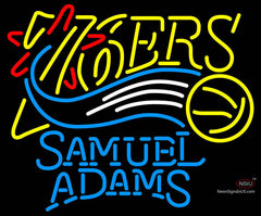 Samuel Adams Single Line Philadelphia 7ers NBA Neon Sign