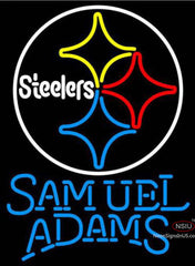 Samuel Adams Single Line Pittsburgh Steelers NFL Neon Sign  7