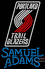 Samuel Adams Single Line Portland Trail Blazers NBA Neon Sign