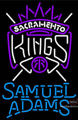 Samuel Adams Single Line Sacramento Kings NBA Neon Sign
