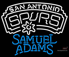 Samuel Adams Single Line San Antonio Spurs NBA Neon Sign