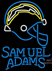 Samuel Adams Single Line San Diego Chargers NFL Neon Sign