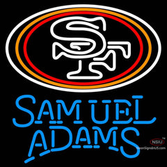 Samuel Adams Single Line San Francisco ers NFL Neon Sign  7