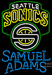 Samuel Adams Single Line Seattle Supersonics NBA Neon Sign