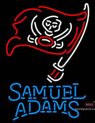 Samuel Adams Single Line Tampa Bay Buccaneers NFL Neon Sign
