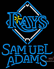 Samuel Adams Single Line Tampa Bay Rays MLB Neon Sign