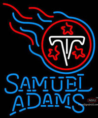 Samuel Adams Single Line Tennessee Titans NFL Neon Sign  7