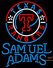 Samuel Adams Single Line Texas Rangers MLB Neon Sign