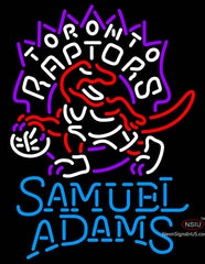 Samuel Adams Single Line Toronto Raptors NBA Neon Sign
