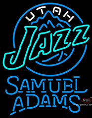 Samuel Adams Single Line Utah Jazz NBA Neon Sign