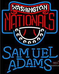 Samuel Adams Single Line Washington Nationals MLB Neon Sign