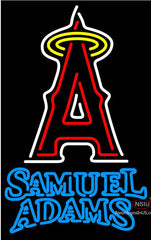 Samuel Adams Double Line Anaheim Angels MLB Neon Sign