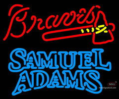 Samuel Adams Double Line Atlanta Braves MLB Neon Sign  7