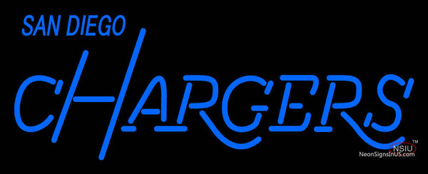 San Diego Chargers Wordmark 7 7 Logo NFL Neon Sign