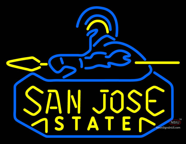 San Jose State Spartans Primary  Pres Logo NCAA Neon Sign