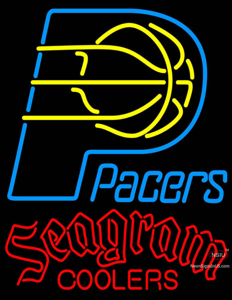 Seagram Indiana Pacers NBA Neon Beer Sign