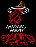 Seagram Miami Heat NBA Neon Beer Sign