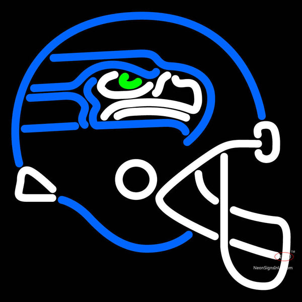 Seattle Seahawks Helmet   Logo NFL Neon Sign x