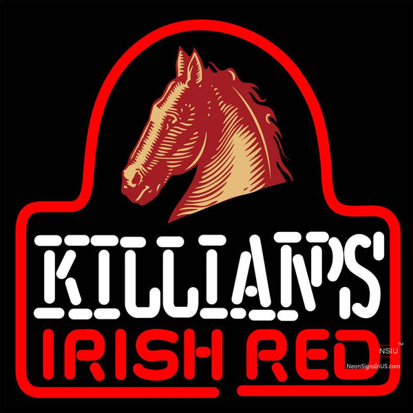 Sgeorge Killians Irish Red Horse Head Neon Beer Sign x