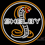 Shelby Gold Cobra Round Neon Sign