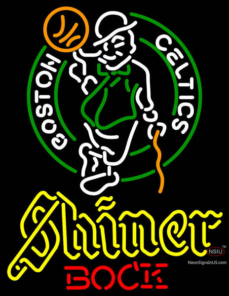 Shiner Boston Celtics NBA Neon Beer Sign