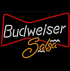 Budweiser Bowtie Salsa Beer Sign