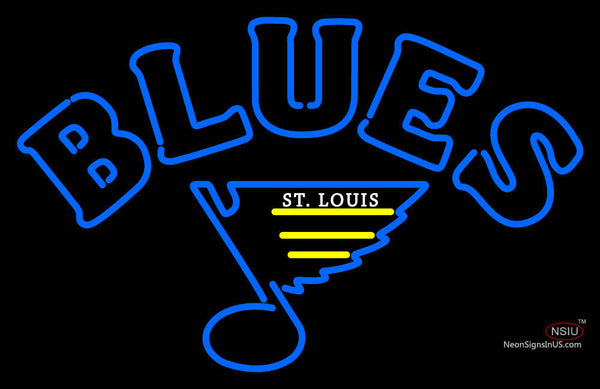 St Louis Blues Primary    7 Logo  NHL Neon Sign