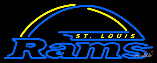 St Louis Rams Primary   Logo NFL Neon Sign