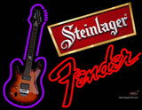 Steinlager Backlit Fender Guitar Neon Sign