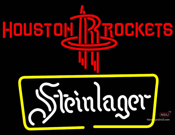 Steinlager Houston Rockets NBA Neon Beer Sign