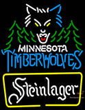 Steinlager Minnesota Timber Wolves NBA Neon Beer Sign