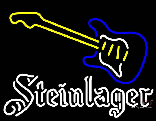 Steinlager White Guitar Neon Sign