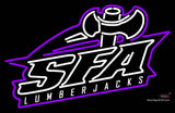 Stephen F Austin Lumberjacks Alternate  Pres Logo NCAA Neon Sign