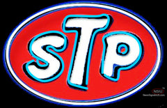 STP Oil Treatment Richard Petty  Neon Sign
