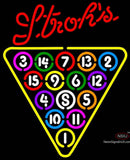 Strohs  Ball Billiards Pool Neon Sign